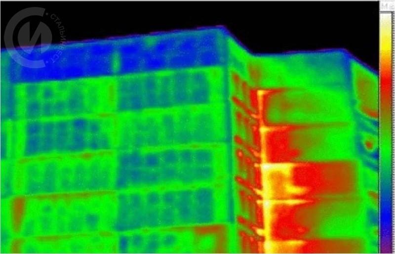 Теплові втрати по швах панельного будинку